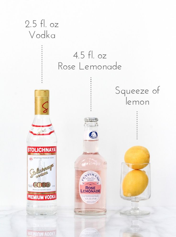 How to Make Spiked Rose Lemonade