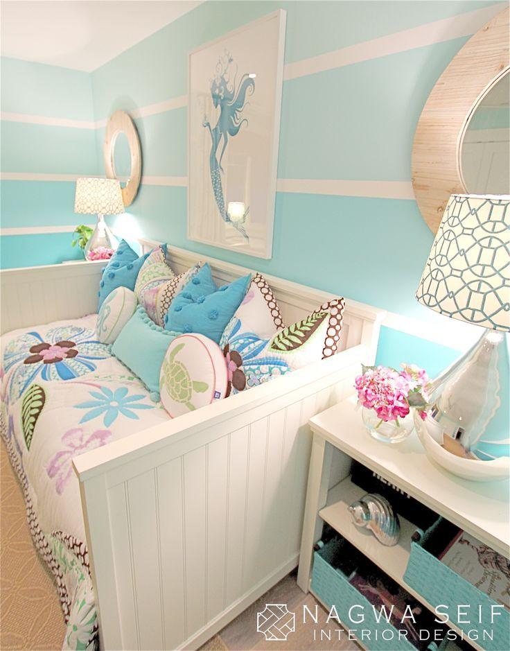 Mermaid room! Love the ombré walls!!!!