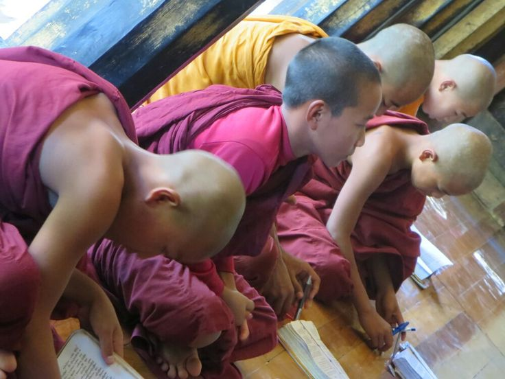 Novices and monks at monastery Shwe Yan Pyay, Nyaung Shwe (Inle Lake), Myanmar