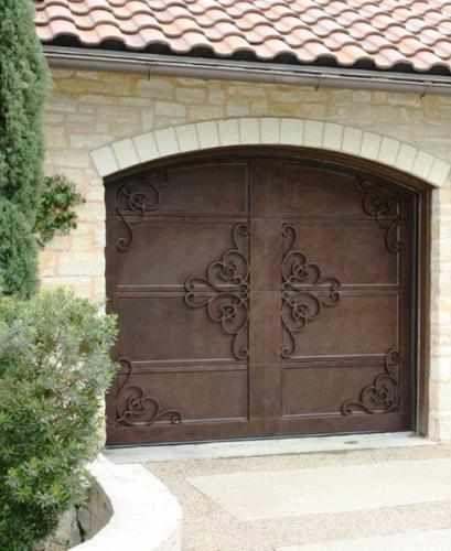 Garage Door Handtrail-58 - Wrought Iron Doors, Windows, Gates, & Railings from Cantera Doors