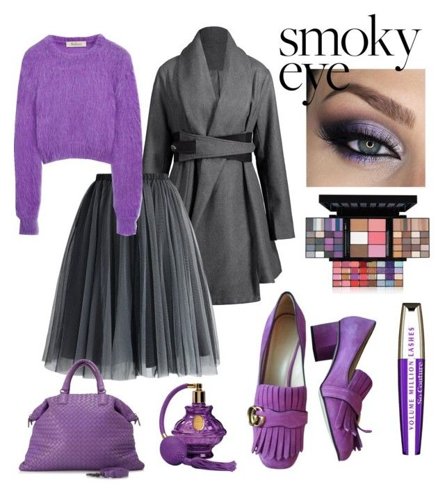 """contest: Smokey eye"" by dtlpinn on Polyvore featuring beauty, NYX, Chicwish, Gucci, Bottega Veneta, Mulberry and L'Oréal Paris"