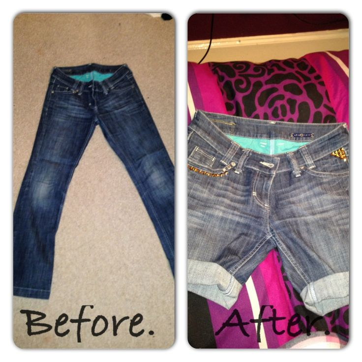 Bit of DIY jeans to shorts :)