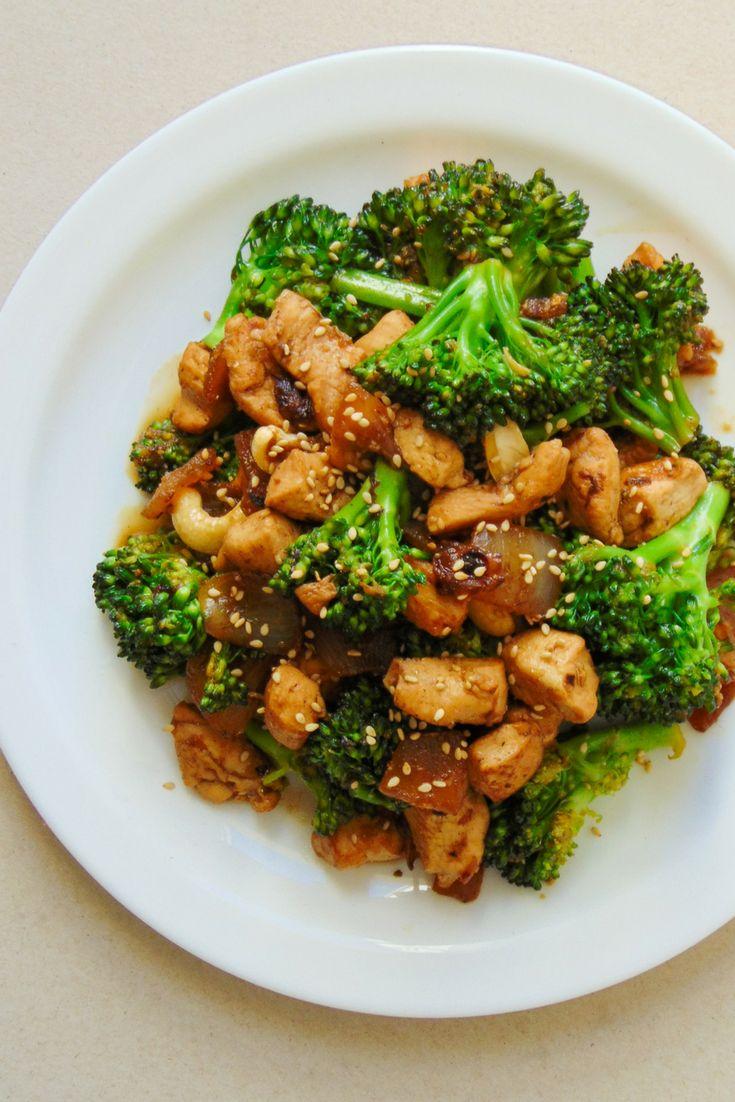 brocoli con pollo estilo oriental