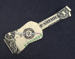 UKULELE – GUITAR Money Origami – Music Musical Instrument Made of Dollar Bill Art