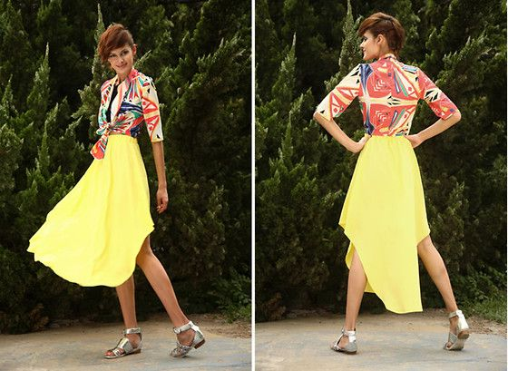 My favorite yellow skirt~~lala (by Victoria  Turley) http://lookbook.nu/look/3910902-my-favorite-yellow-skirt-lala