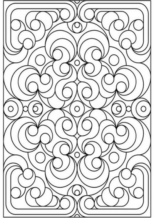 Geometric Design Colouring Pictures Stained Gl Pages Geometry Coloring