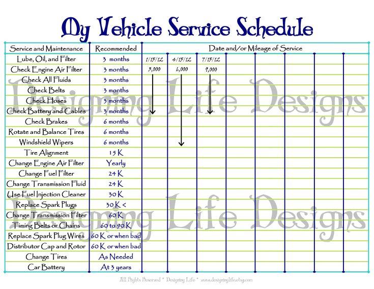 Best 20+ Vehicle maintenance log ideas on Pinterest   Auto ...
