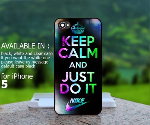innovative design 47068 9d242 ... 44S JUST DO IT PINKW Keep Calm And Just Do It Nike Logo - For iPhone 5  Case BestCover ...