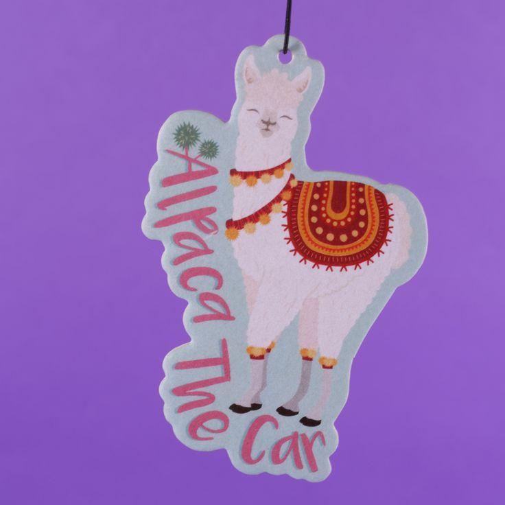 Závěsný osvěžovač vzduchu se hodí nejen do auta! Navíc s motivem Alpaka je trendy dekorací. #alpaca