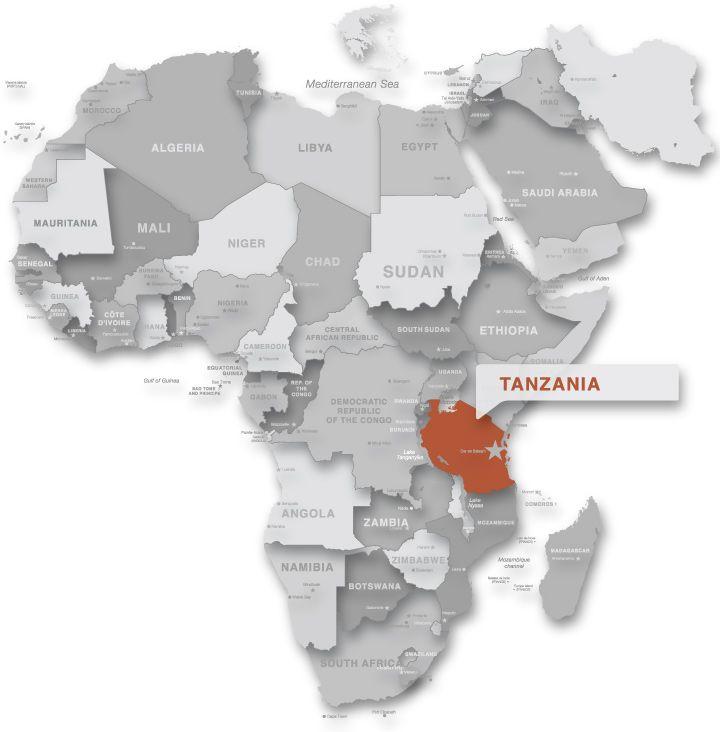 Tanzania On Africa Map.Tanzania Map Africa Google Search Places I Ve Been Tanzania