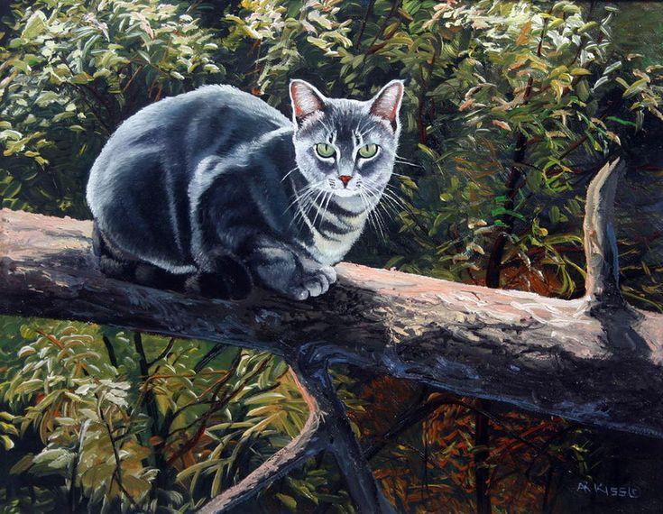 Бог создал животных, чтобы отогревать наши холодные сердца... Художник самоучка…