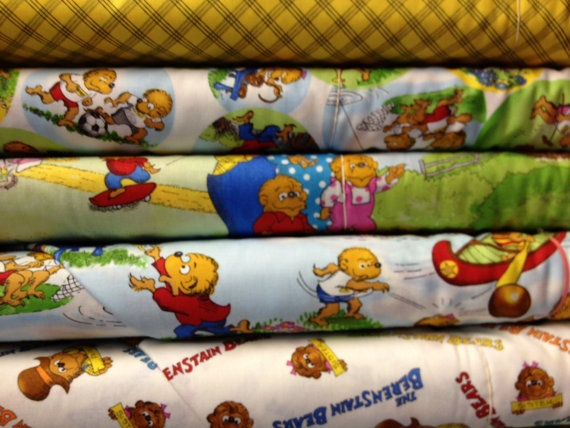 1 yard Berestein Bears  Pick your pattern by FabWarehouse on Etsy, $10.99