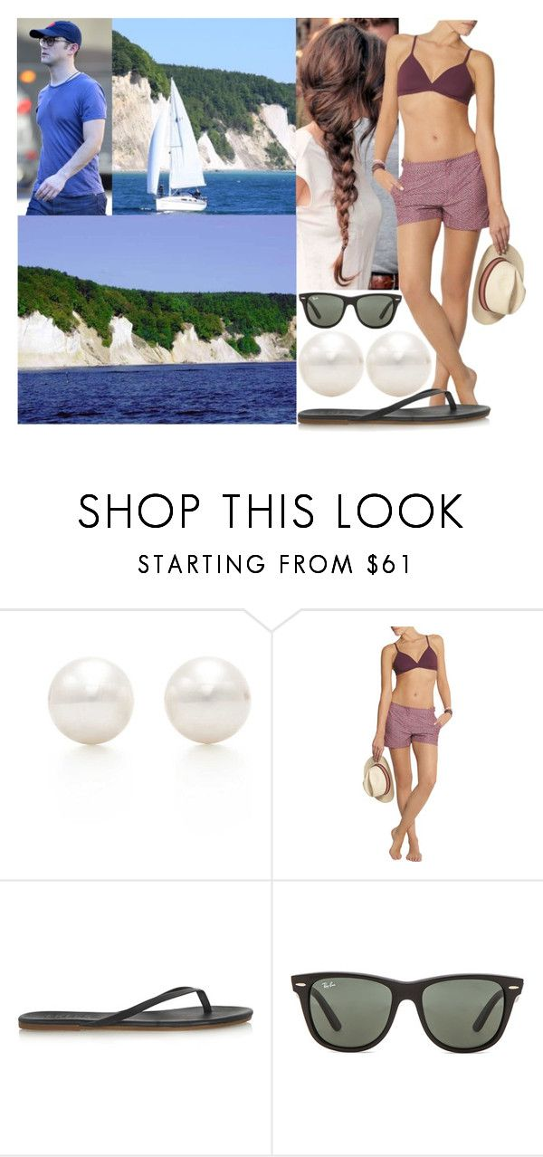 """""""Honeymoon Day 7: Renting a small sailing boat and viewing the chalk cliffs of Rügen"""" by astridavhessenstein ❤ liked on Polyvore featuring Tiffany & Co., Orlebar Brown, Tkees and Ray-Ban"""