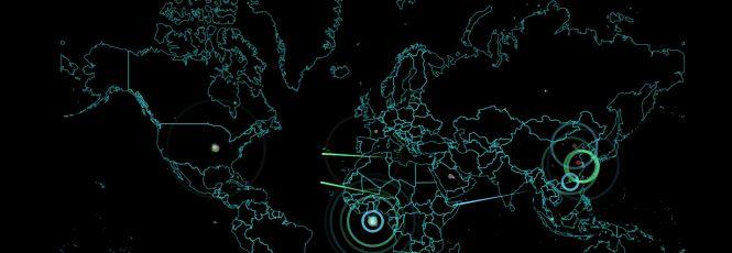 Mapa interativo mostra ciberataques em tempo real
