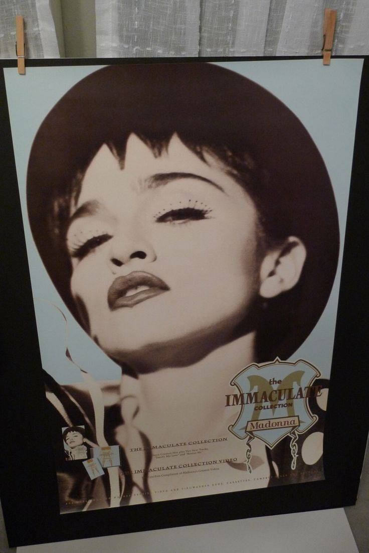 MADONNA Poster Vintage Promotional Poster 1990 Immaculate Collection Record Store Only Mohawk Music Sire Records Material Girl Free US Ship by MohawkMusic on Etsy https://www.etsy.com/listing/118890669/madonna-poster-vintage-promotional