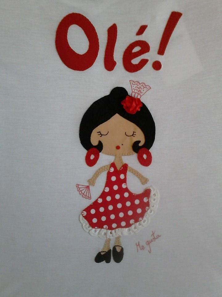 "Gitana y olé!! Camisetas decoradas ""ME GUSTA"" Facebook"