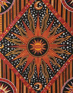 Celestial Sun & Moon  Tapestry Hippie Bohemian Throw  Bed Spread Dorm Tapestries