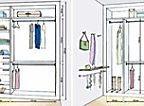 Closets e guarda-roupas bem organizados | Casa