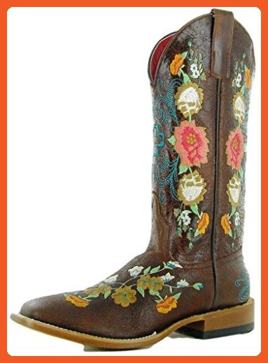 Macie Bean Western Boots Womens Floral Sweet Sixteen 6.5 B Brown M9031 - Boots for women (*Amazon Partner-Link)