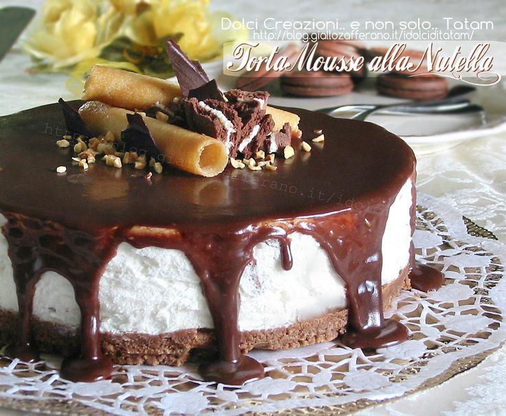 Torta Mousse alla Nutella è una golosissima torta fredda a base di panna montata e formaggio spalmabile, e una ghiotta glassa alla Nutella le dona un ....