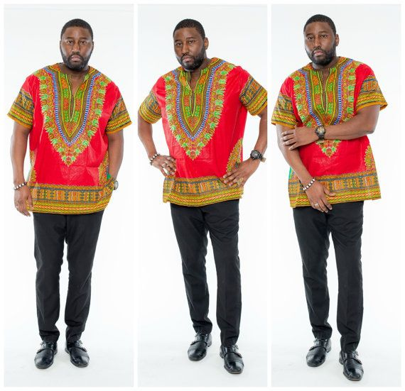 2017 African Dress Riche African Dashiki Dresses Top Fashion Rushed Linen Men National Costumes, Great Rejoicing Ji Loaded