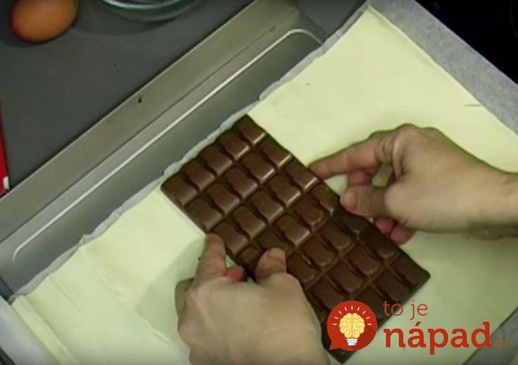 Na vytvorenie dokonalého dezertu vám postačí, ak doma nájdete tabuľku čokolády, lístkové cesto, jedno vajíčko aniečo na posypanie – ideálne oriešky. Tento skvelý nápad sa určite bude páčiť každému, kto miluje čokoládové dezerty srýchlou anenáročnou …