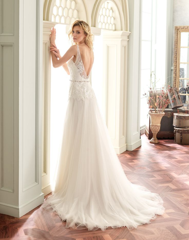 TAMARA // This bohemian beauty was designed with a fitted lace bodice and dreamy tulle skirt.