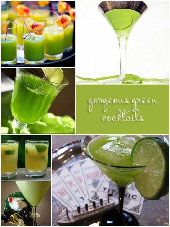 17 best images about signature drinks on pinterest for Green alcoholic drinks recipes