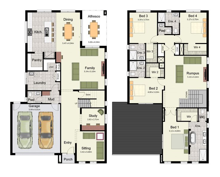 The Amora 348 is a luxurious home with an ensuite and and walk-in-robe for every bedroom.