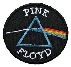 """And if the cloud bursts, thunder in your ear You shout and no one seems to hear And if the band you're in starts playing different tunes I'll see you on the dark side of the moon."" Pink Floyd logo ci"