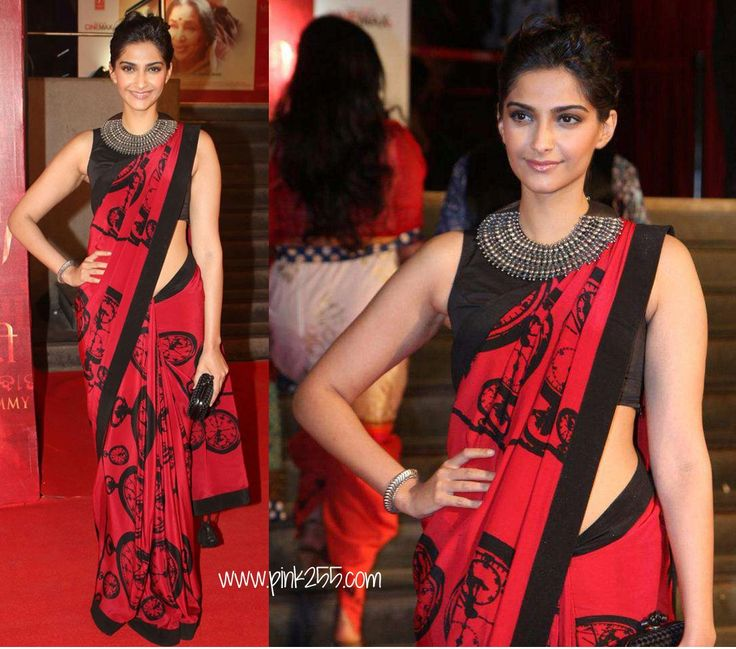 Make a style statement with an amazing neck piece with your saree just like sonam