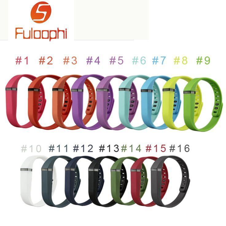 Best Bracelet 2017/ 2018 : Wholesale Colorful Silicon Rubber Bracelet Replacement for Fitbit Flex Wristband...