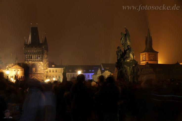 Prag: Auf der Karlsbrücke