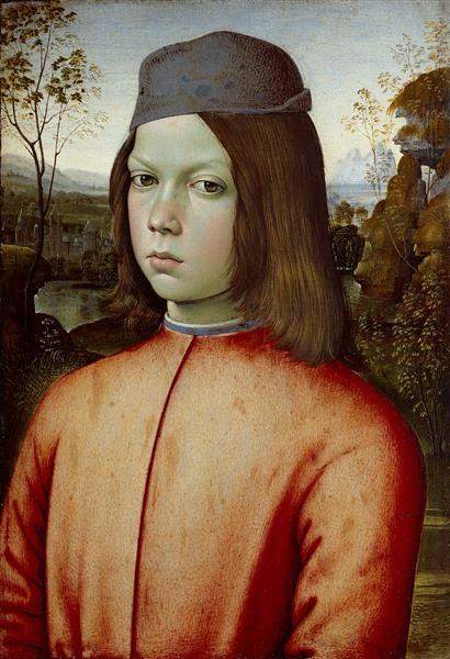 Bildnis eines Knaben Pintoricchio (um 1454-1513)|Maler um 1480/82 (?) Gemäldegalerie Alte Meister Material and Technique Tempera auf Pappelholz Measurement 50 x 35,5 cm (Tafel), 47,5 x 33 cm (bemalte Fläche)
