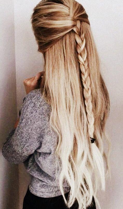 Pinterest Kjerstynjordheim Easy Hairstyles For Long Hair Long Hair Styles Thick Hair Styles