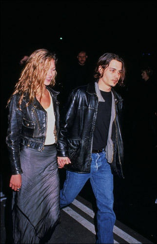 Kate Moss and Johnny Depp (1994)