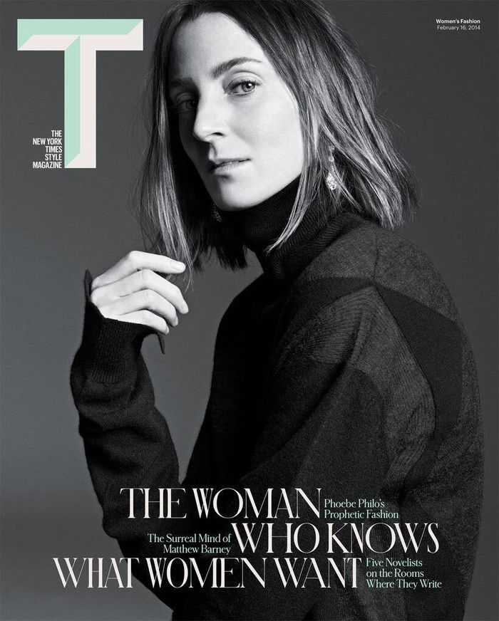 THE WOMAN WHO KNOWS WHAT WOMEN WANT Fashion designer Phoebe Philo coversThe NY Times T Style Magazine Spring 2014, captured by Karim Sadli....