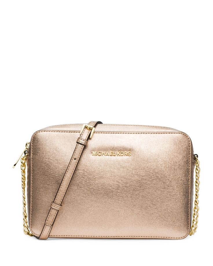 MICHAEL Michael Kors Jet Set Travel Large Crossbody Bag, Pale Gold, Size: L