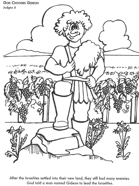 Gideon And The Midianites Coloring Pages
