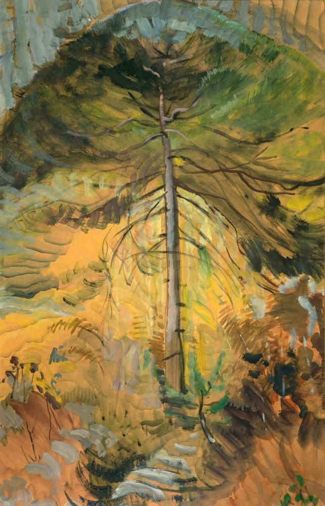 Emily Carr, Happiness, 1939. Oil on paper, 84.8 x 54 cm. Courtesy the University of Victoria Art Collection.
