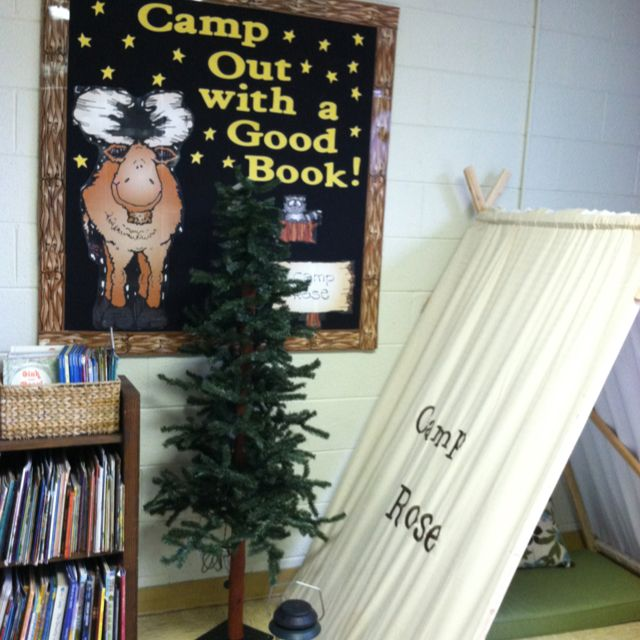 Camping theme reading center