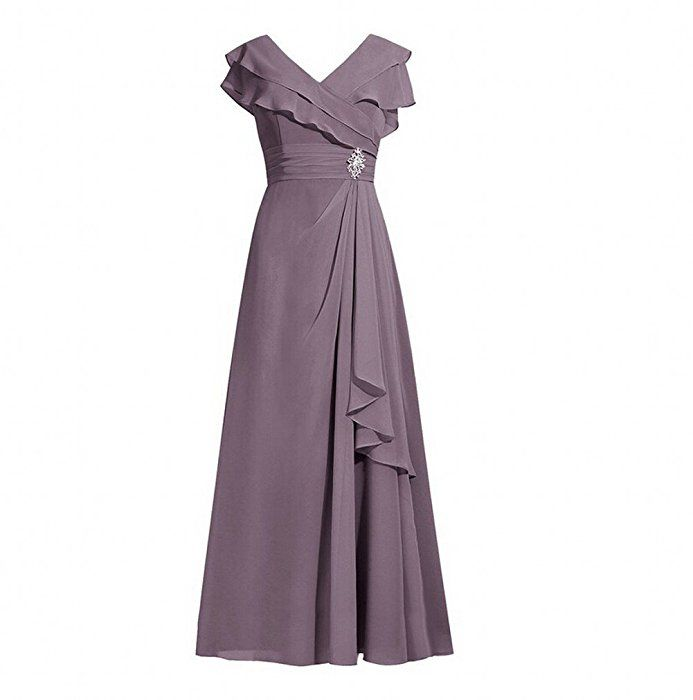 AK Beauty Womens Long Chiffon Evening Party Dresses