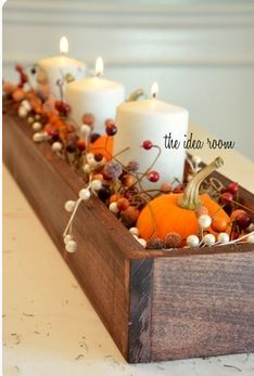 candles and pumkins