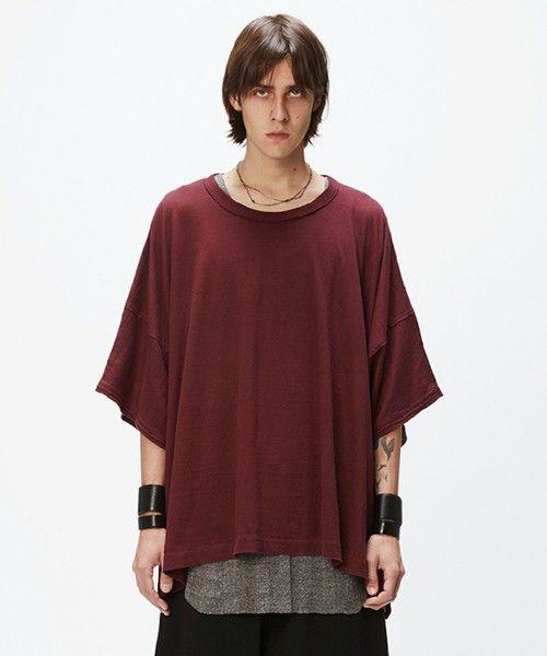 Wizzard(ウィザード)の「WIDE CUTSEW(Tシャツ/カットソー)」|バーガンディー