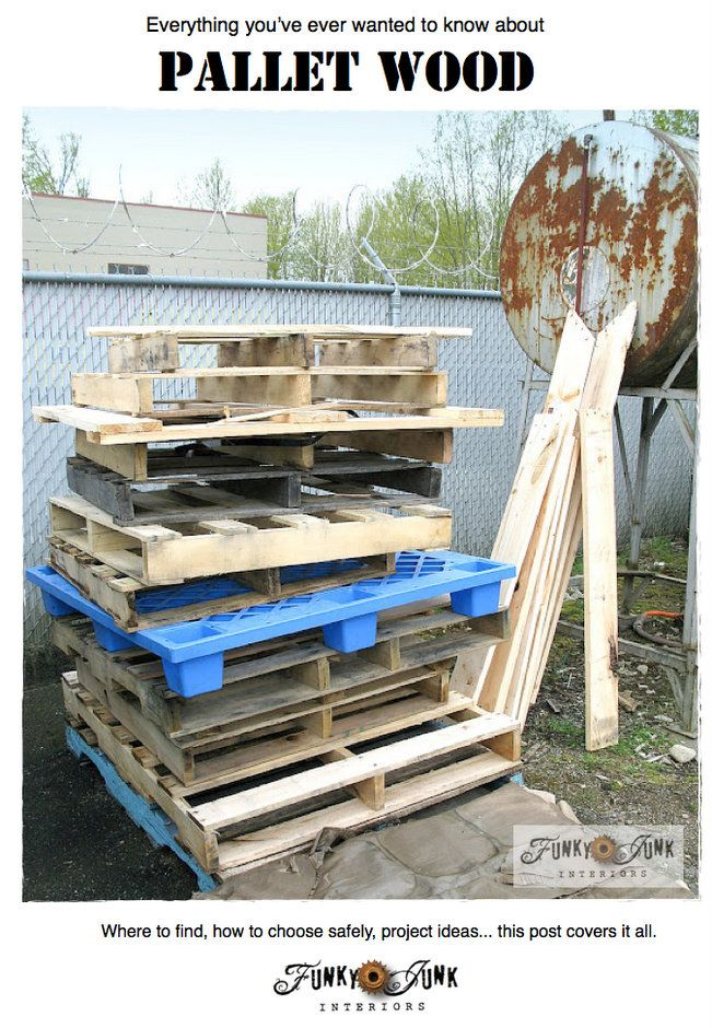 Everything you've ever wanted to know about PALLET WOOD / How to choose safely, how to prepare it, project ideas. This post covers it all. v...