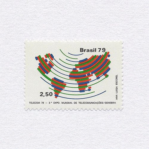 Telecom 79 (2,50). Brazil, 1979 Design: Ana Luisa Escorel. #mnh #graphilately