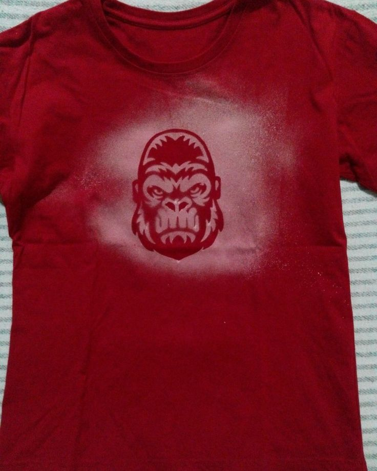 red gorilla #DIY #shirts  #spray