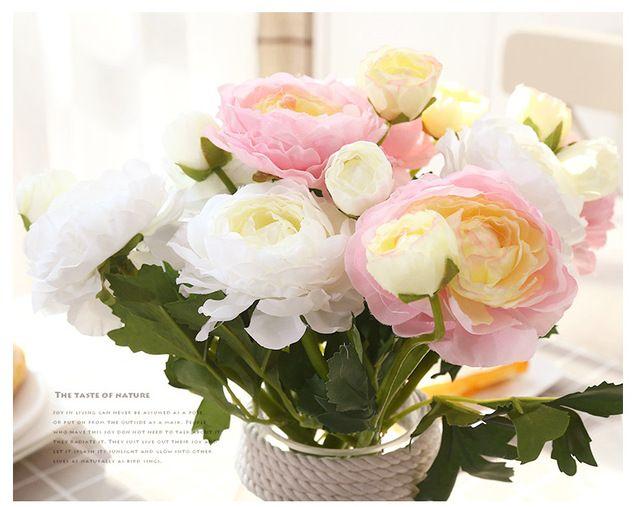 Floace Искусственные цветы шелковый цветок главная страница декоративные мебель цветы пиона