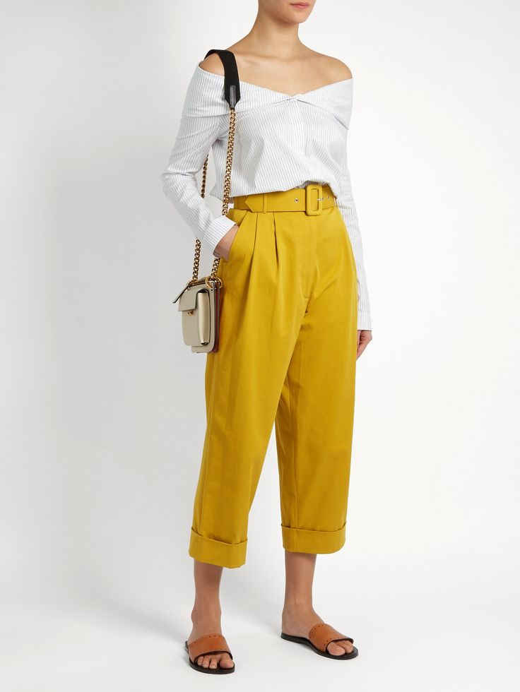 Click here to buy Isa Arfen Safari high-waist cropped trousers at MATCHESFASHION.COM