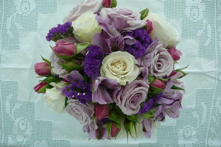 purple bouquet Wanaka wedding flowers